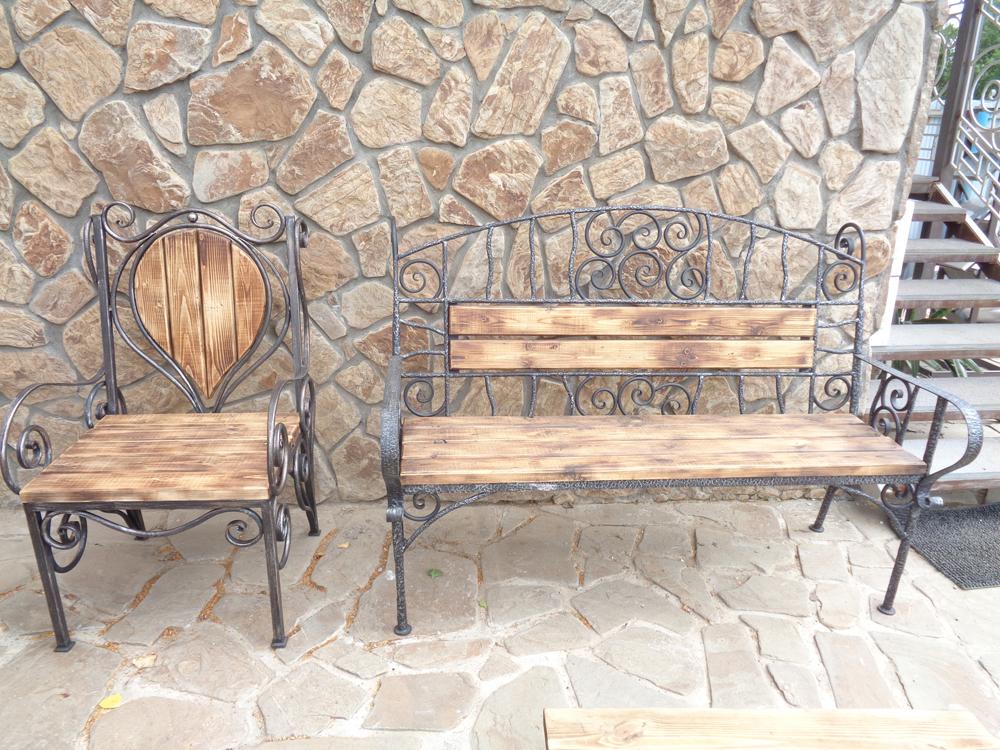 Кованый садовый набор мебели
